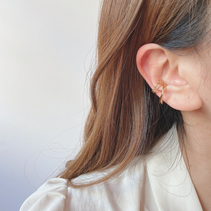 braided bread ear cuff - beller