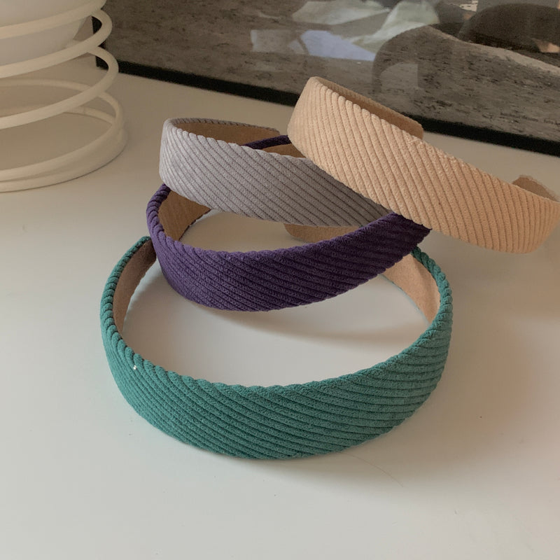 stripe knit hairband