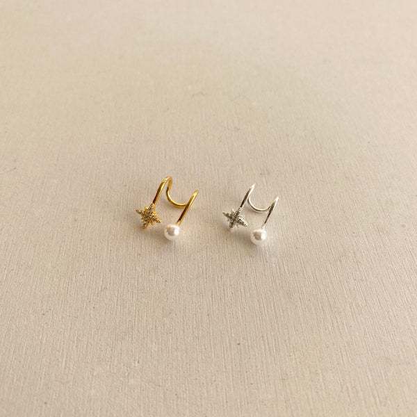 star × pearl ear cuff