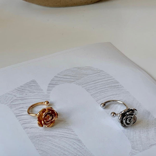 beauty rose ear cuff