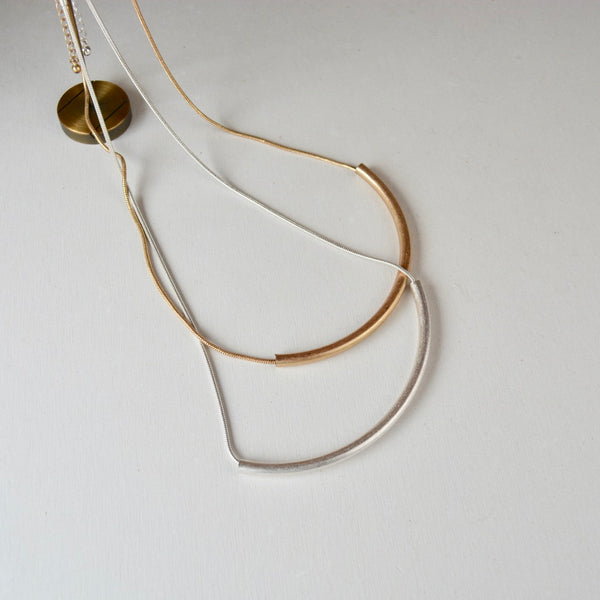 bent tube necklace