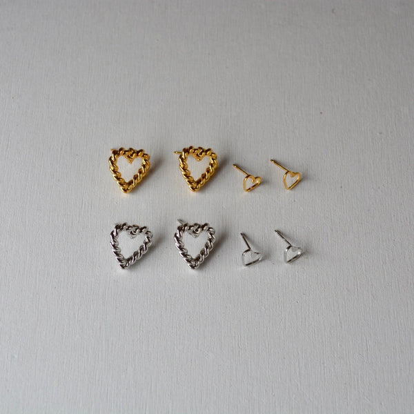 twist heart pierce set