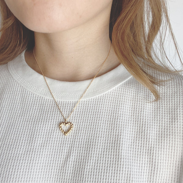 twist heart necklace
