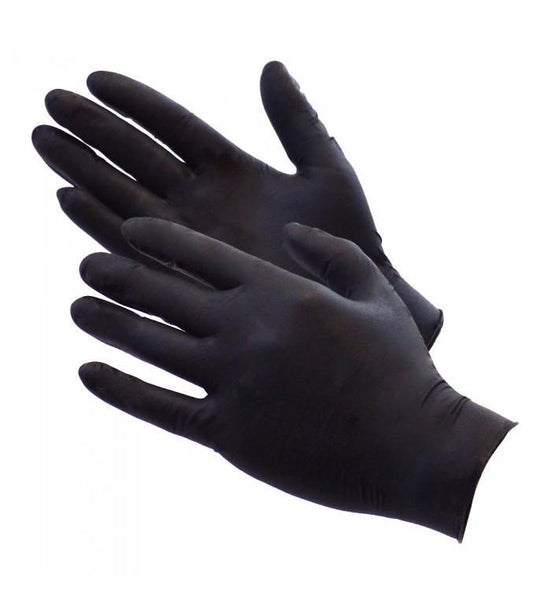 Bold Black Nitrile Gloves