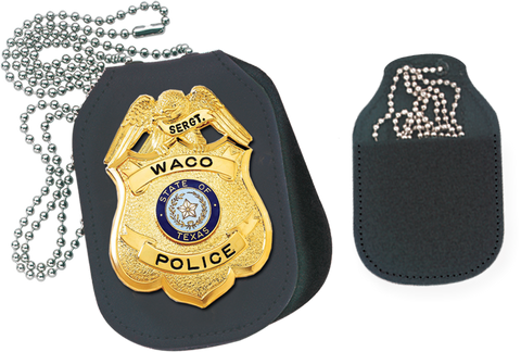 Oval Velcro Badge Holder