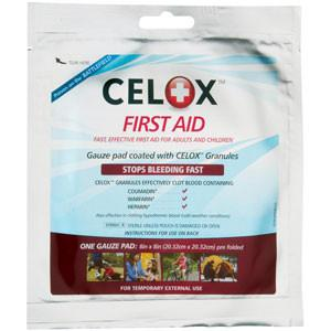 "Celox Blood Clot Gauze Pad - Large 8"" x 8"" - mtrsuperstore"