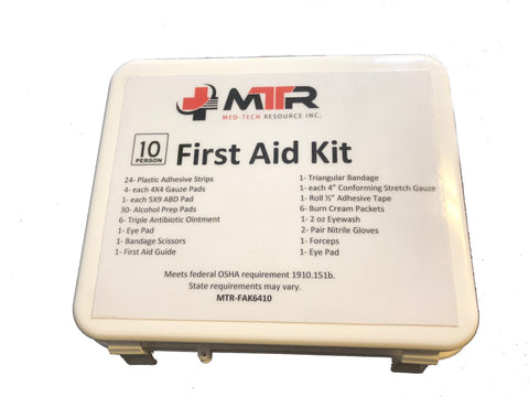 MTR First Aid Kit - 10 Person