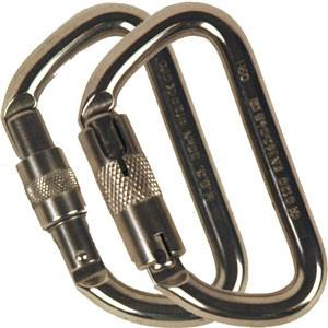 Stainless Steel Offset D Carabiner - mtrsuperstore
