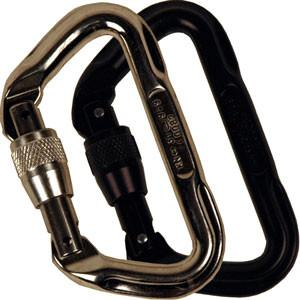 11mm Aluminum 'D' Carabiners - Locking