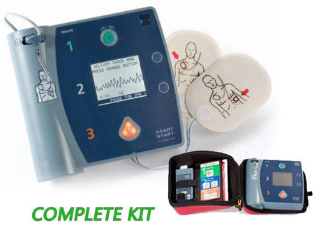 Philips HeartStart FR2+ AED Defibrillator - Complete Kit (Refurbished)