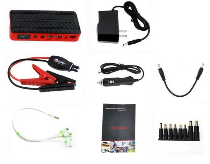 Portable Emergency Jump Starter & Battery Charger - mtrsuperstore