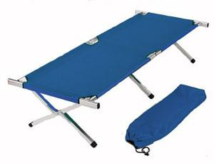 Blue Aluminum Folding Cot - mtrsuperstore