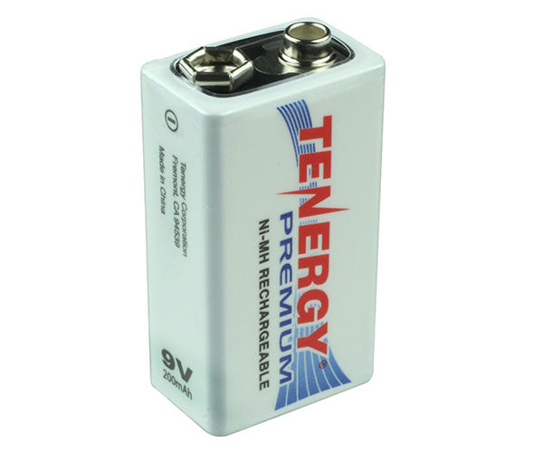 9V Lithium Alkaline Battery - Rechargable