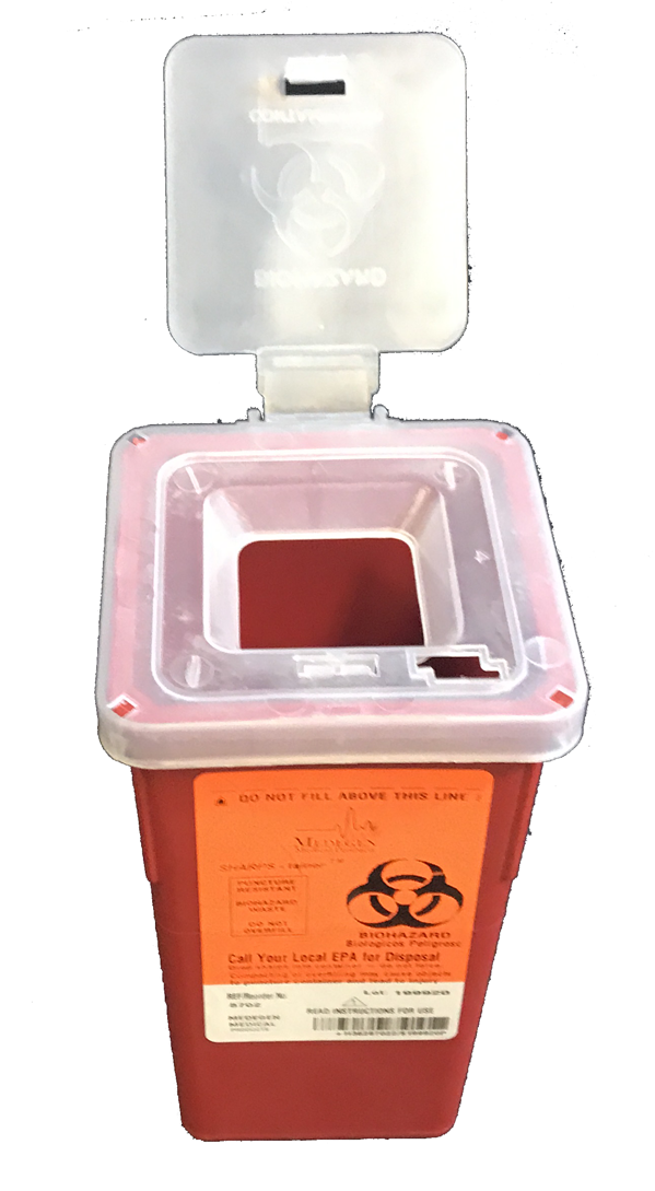 Stackable Sharps Container (Quart Size) - Case/72 - mtrsuperstore