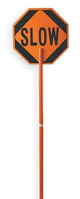 Traffic Paddle Stop/Slow Long Handle - mtrsuperstore