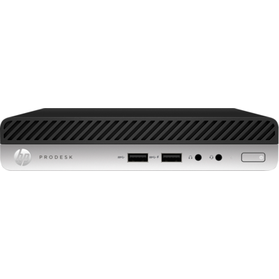 HP 400 ProDesk G5 DM, i7-9700T, 8GB, 256GB SSD, WLAN, W10P64, 1-1-1 (Replaces 4VG39PA)