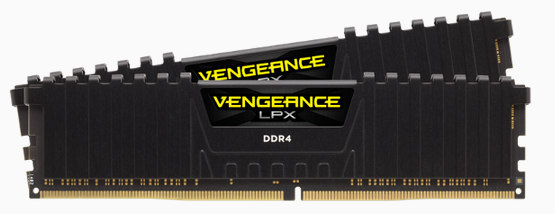 CORSAIR Vengeance LPX DDR4, 3000MHz 16GB 2 x 288 DIMM, Unbuffered, 16-20-20-38, Black Heat spreader, 1.35V, XMP 2.0, Supports 6th Intel Core i5/i7