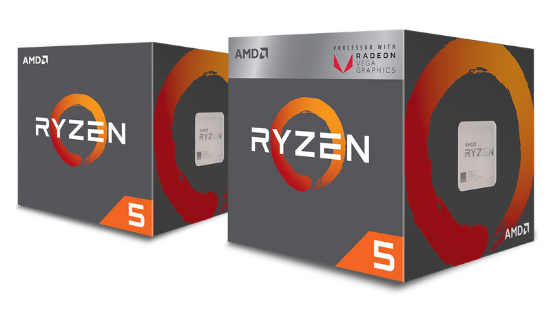 AMD Ryzen 5 2600, 6-Core/12 Threads, Max Freq 3.9GHz, 16MB Cache Socket AM4 65W, with Wraith Stealth cooler