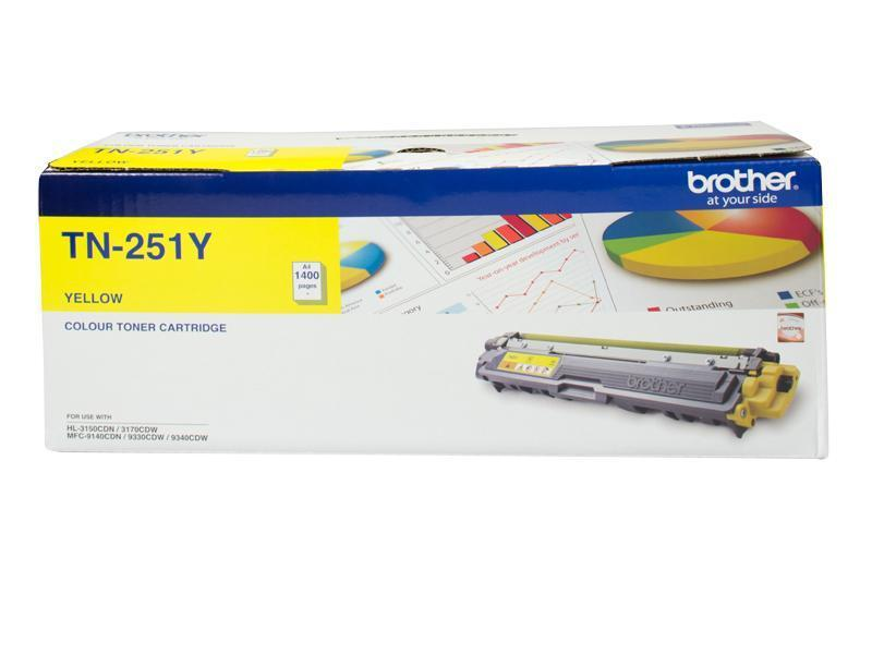 YELLOW TONER CARTRIDGE TO SUIT HL-3150CDN/3170CDW/MFC-9140CDN/9330CDW/9340CDW (1,400 Pages)