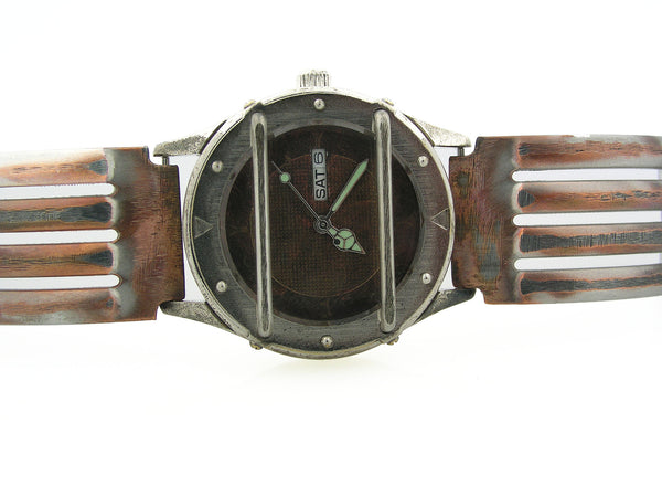 Men's Watch with Date, Copper Color Dial, Waterproof