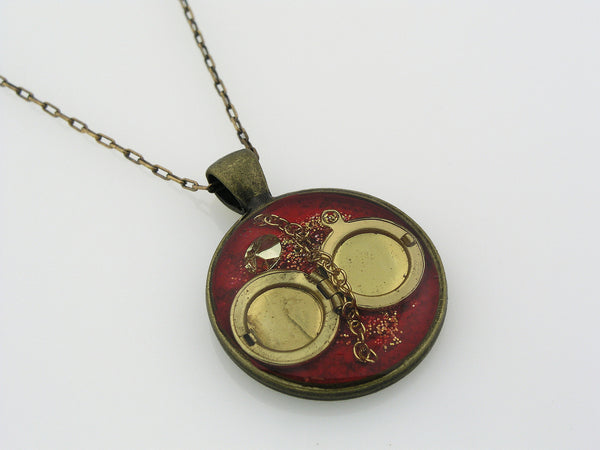 Resin Necklace with Brass Locket
