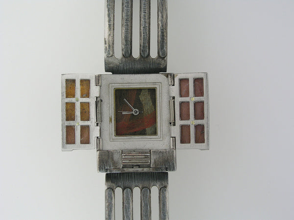 Copper & Brass Door Watch multicolor dial