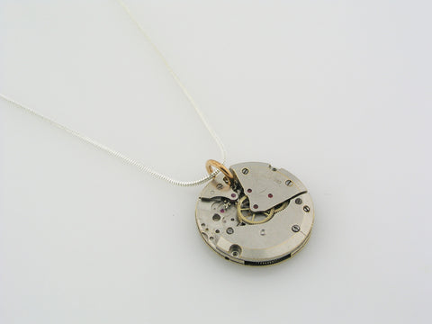 Vintage Watch Movement Necklace, Steampunk