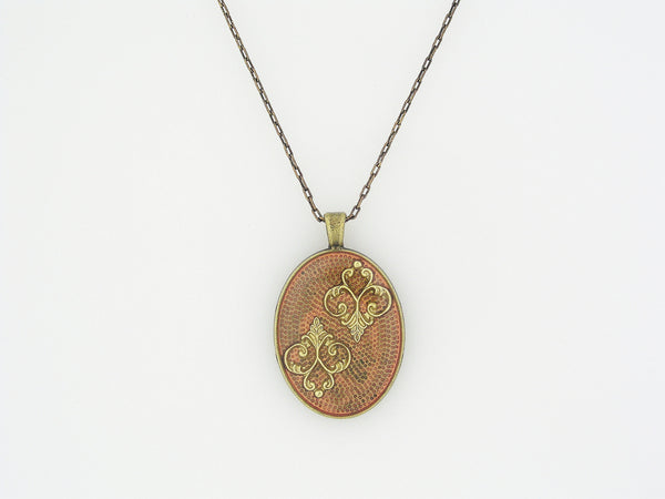 Resin Necklace with Brass