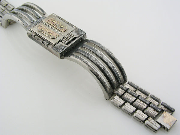 Silver & Brass Door Watch multicolor dial