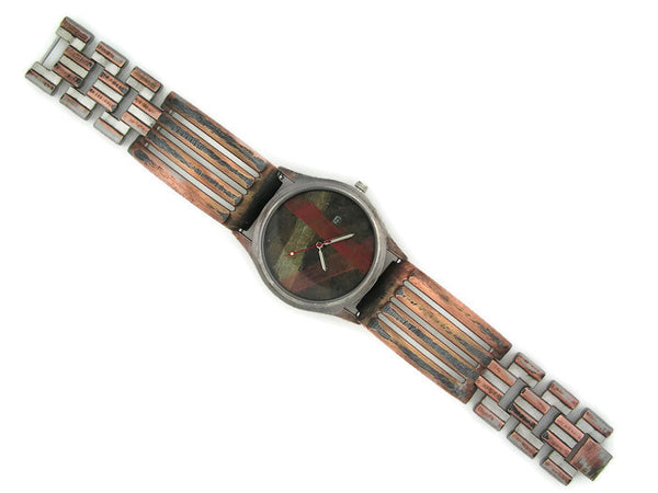 Men's Watch with Date, Multicolor Dial