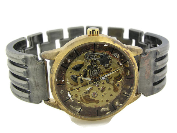 Men's Automatic Mechanical Watch, copper Dial