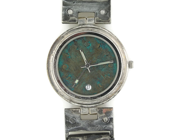 Men's Watch with Date, Blue Dial