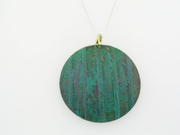 Patina Brass Necklace