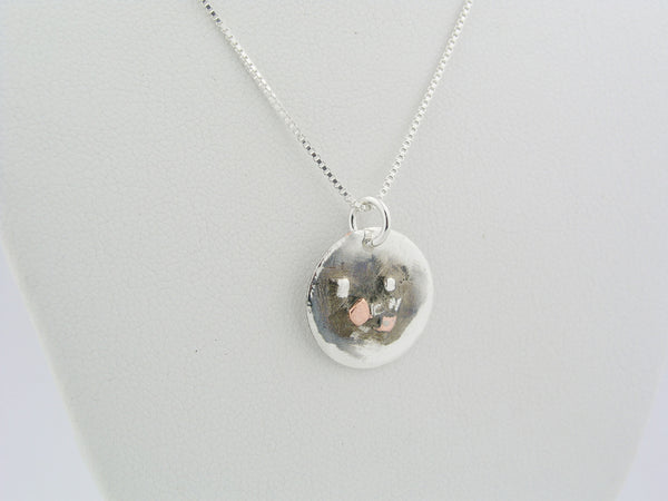 Sterling Silver & Copper Pendant Necklace