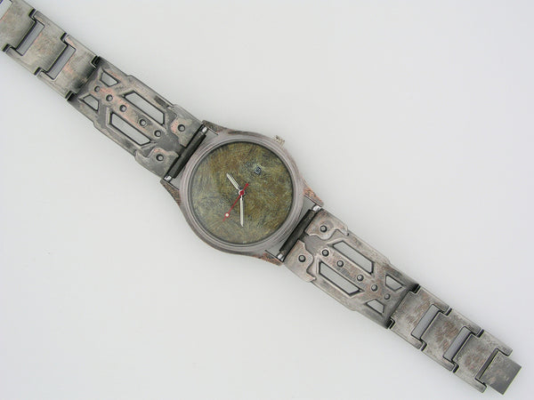 Men's Watch with Date, Green Dial