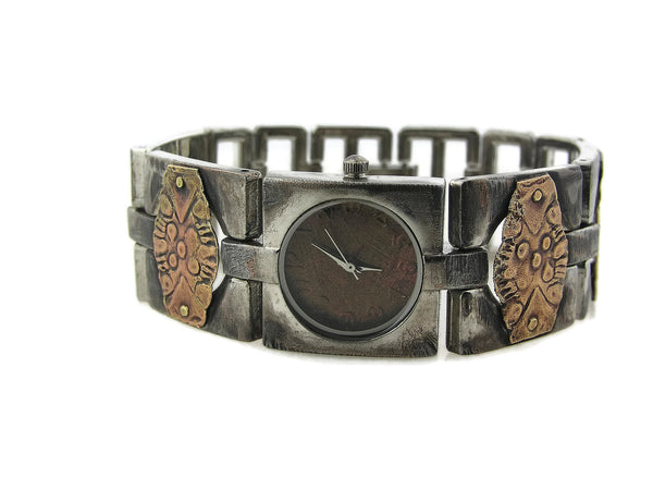 Women's brass Watch, copper Dial