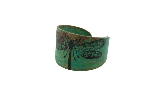 Dragonfly Brass Patina Ring