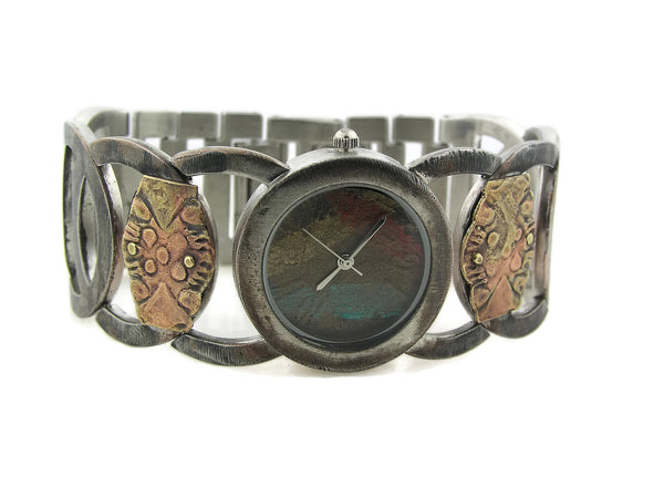 Women's Watch copper & brass, Multicolor Dial
