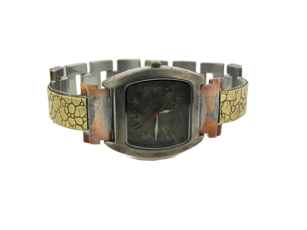 Brass Watch, green Dial