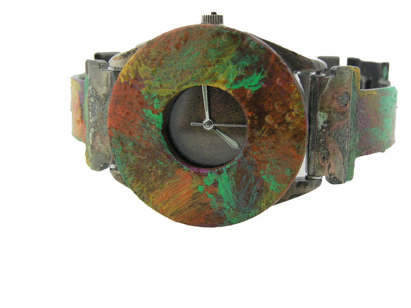 Patina Watch With Copper color Dial