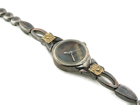 Small women's brass Watch, multicolor Dial