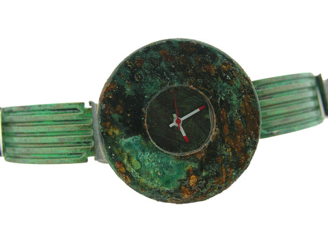 Patina Watch with Antique Green Dial
