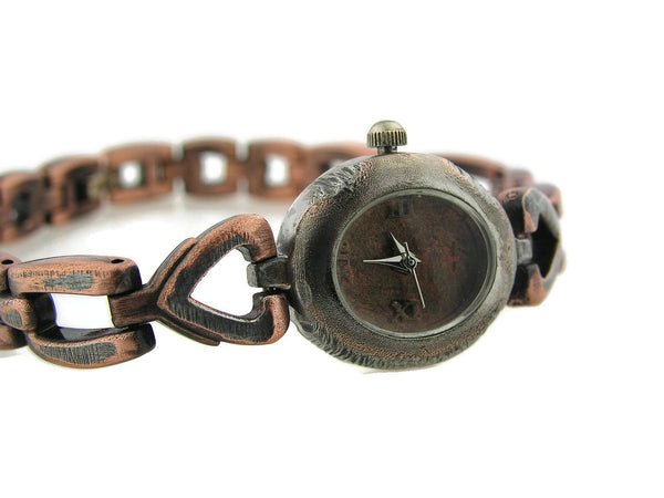 Small women's Watch, copper Dial
