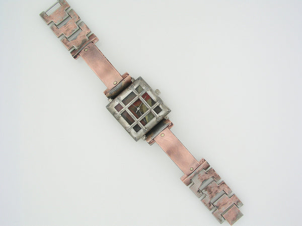 The Bars Copper Watch, Multicolor Dial