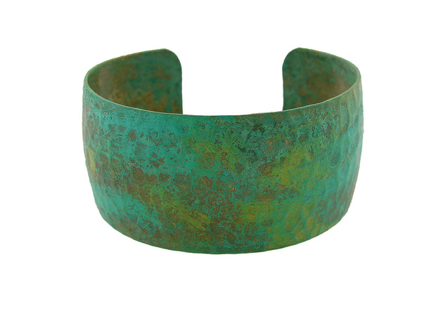 Hammered Brass Patina Cuff Bracelet 1""