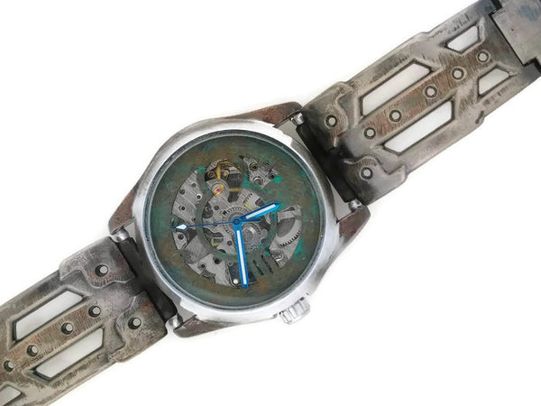 Copy of Brass Automatic Mechanical Watch, blue Dial