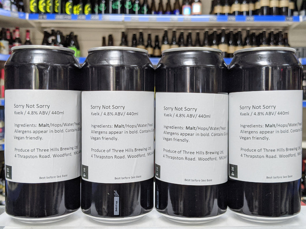 Sorry Not Sorry - Three Hills Brewing - Kviek Pale, 4.8%, 440ml Can