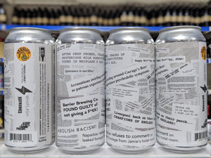 Headlines - Barrier Brewing Co X Whiplash Beer X Garage Beer X Naparbier - Triple IPA, 10.5%, 473ml Can