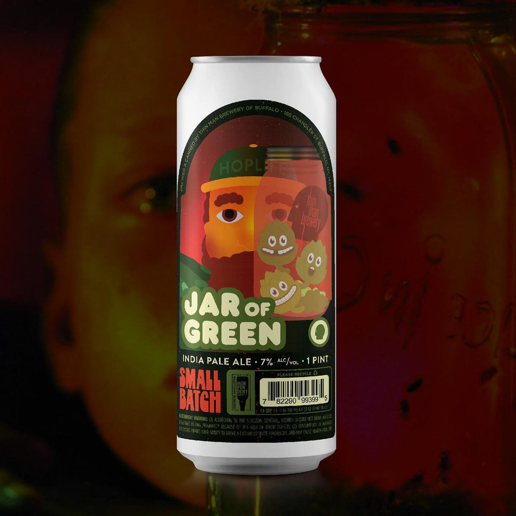 Jar Of Green - Thin Man Brewery - New England IPA, 7%, 473ml Can