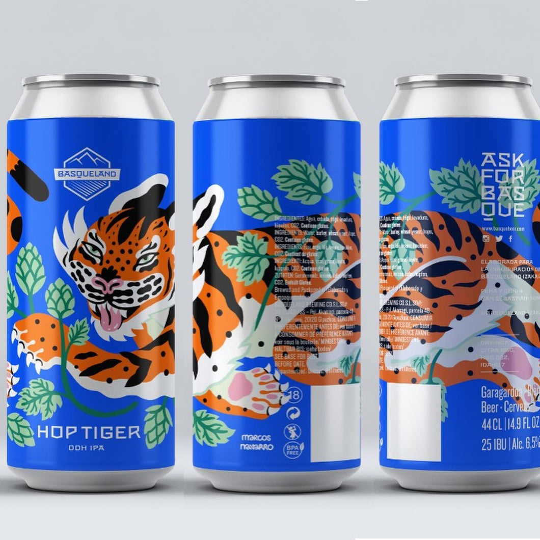 Hop Tiger - Basqueland Brewing Co - DDH IPA, 6.5%, 440ml Can